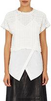 Derek Lam 10 Crosby Women's Layered Cotton Gauze T-Shirt-WHITE