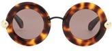 Christopher Kane Round Sunglasses