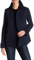Three Dots Double Breasted Front Button Fleece Jacket