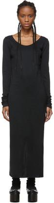 Raquel Allegra Black Sueded Baby Jersey Dress