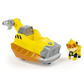 Paw Patrol PAW Patrol, Mighty Pups Charged Up Rubbles Deluxe Vehicle with Lights and Sounds