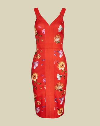 Ted Baker GALINAA Rhubarb strappy bodycon dress