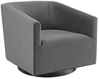 Modway Twist Accent Lounge Performance Velvet Swivel Chair