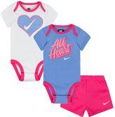 Nike Baby Girl Bodysuit & Shorts Set
