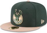 New Era Milwaukee Bucks 2 Tone Team 59FIFTY Cap
