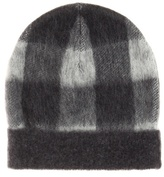Balenciaga Plaid wool-blend hat