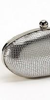 eDressMe Metallic Animal Print Oval Bag