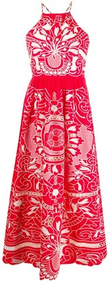 RED Valentino Long Embroidered Dress