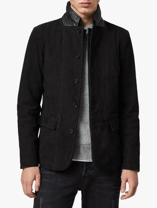 AllSaints Survey Brushed Leather Blazer