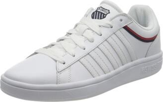 K-Swiss Women's Court Winston Sneaker WHT/WHT/Corporate/TP 6 UK