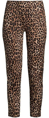 MICHAEL Michael Kors Leopard-Print Cropped Ponte Pants