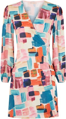Traffic People Mutiny Printed Mini Dress In Multicoloured