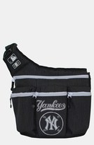Diaper Dude Infant 'New York Yankees' Messenger Diaper Bag - Black