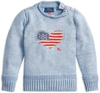 Ralph Lauren Kids Heart Flag Sweater (7-14 Years)