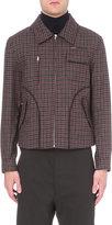 Yang Li Checked Virgin Wool Harrington Jacket