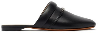 Givenchy Elba Logo-plaque Leather Backless Loafers - Black