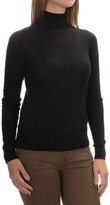 August Silk Mini-Cable Turtleneck - Cotton-Modal, Long Sleeve (For Women)