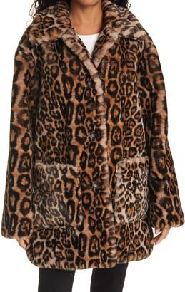 A.L.C. Bolton Leopard Faux Fur Coat