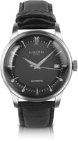 Forzieri Savona - Black Croc-Embossed Automatic Watch