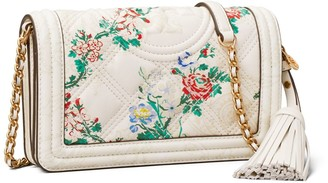 Tory Burch Fleming Soft Printed Wallet Crossbody