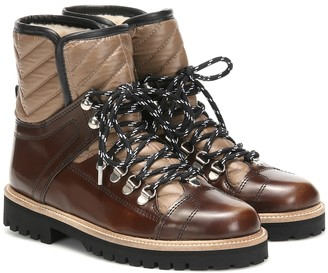 Ganni Exclusive to Mytheresa a Winter Hiking leather ankle boots