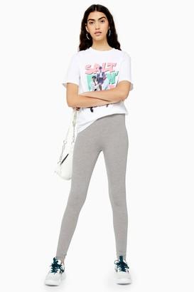 Topshop Womens Grey Internal Elastic Leggings - Grey