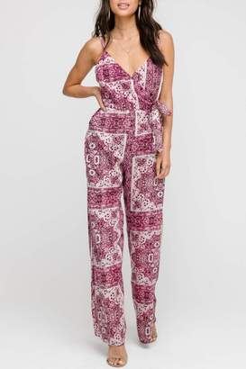 Lush Clothing Bohemian Wrap Jumpsuit