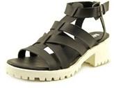 Mia Nadie Women Open Toe Synthetic Black Sandals.