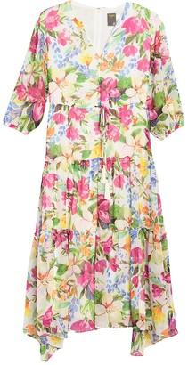 Taylor Floral Printed Midi Dress