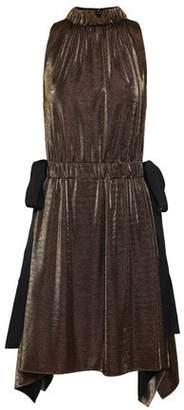 Fendi Bow-detailed Gathered Lame Dress
