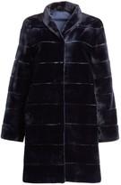 Zandra Rhodes For The Fur Salon Reversible Striped Sheared Mink Coat