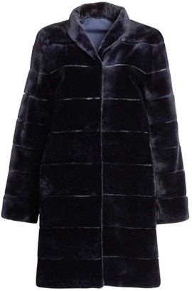 Zandra Rhodes For The Fur Salon Reversible Striped Sheared Mink Coat