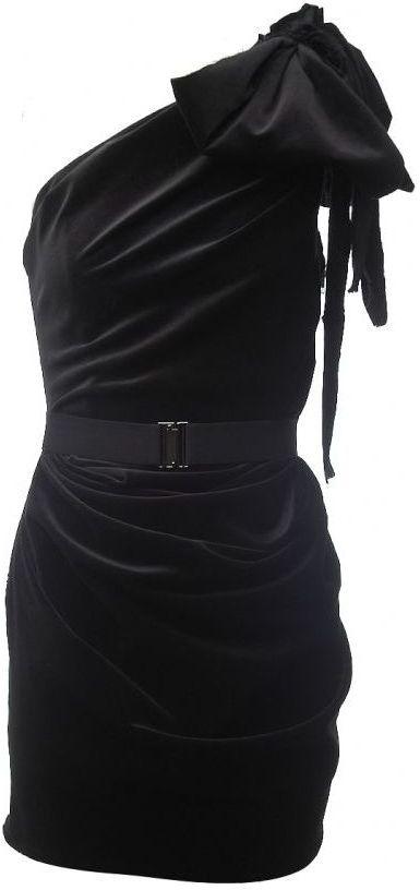 La Petite S***** La Petite Salope Velvet One Shoulder Dress