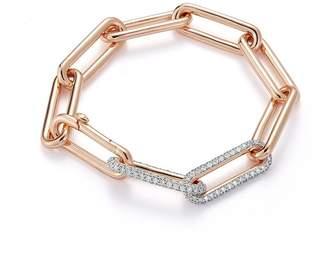 Walters Faith Saxon 18K Elongated Chain Link Bracelet With Double Diamond Links