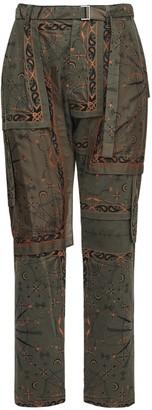 Sacai Dr. Woo Bandana Print Cotton Pants