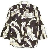 Erdem Printed silk blouse