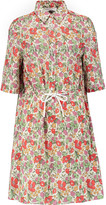 Sonia Rykiel Floral-print cotton-poplin mini dress