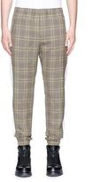 Tim Coppens Check plaid virgin wool jogging pants