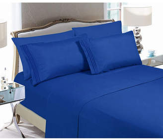 Elegant Comfort 6-Piece Luxury Soft Solid Bed Sheet Set California King Bedding