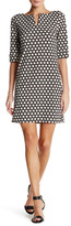 Laundry by Shelli Segal Elbow Sleeves Print T-Body Dress