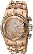 Invicta Women's Bolt Quartz Watch with Gold Dial Chronograph Display and Gold Stainless Steel Plated Bracelet 15275