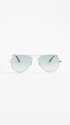Ray-Ban RB3689 Icons Flat Aviator Sunglasses