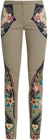 Mary Katrantzou Labyrinth cowboy-appliqué skinny-leg trousers