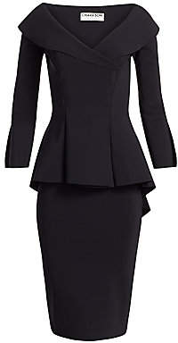 Chiara Boni Women's Zoya Long-Sleeve Peplum Sheath Dress