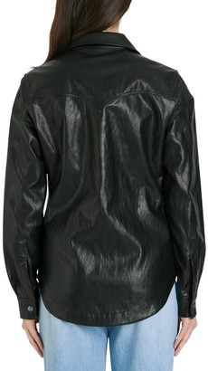 Pinko Faux Leather Shirt