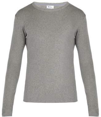 Schiesser Long-sleeved Cotton-jersey Pyjama Top - Mens - Grey
