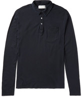 Officine Generale Slim-Fit Garment-Dyed Cotton-Jersey Polo Shirt