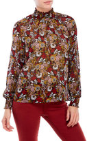 philosophy Floral Print High Neck Blouse