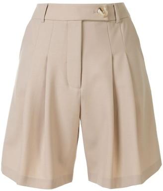 Anna Quan Oscar pleated shorts