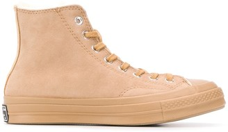 Converse High Top Shearling Lined Sneakers